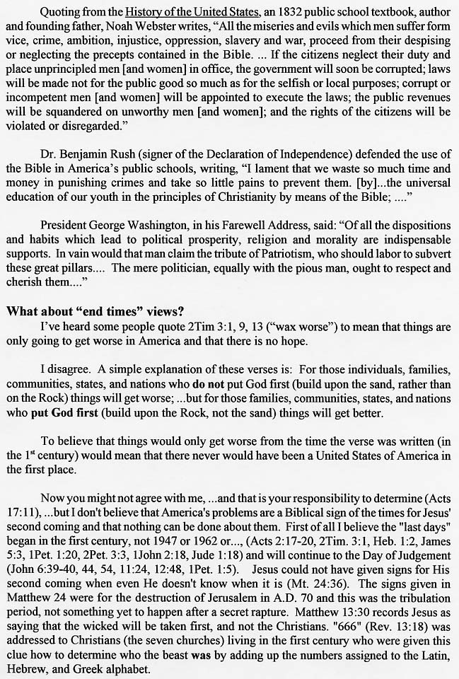 Christians must seek Political Office page203